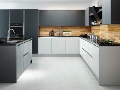 кухонный гарнитур с матовыми фасадами